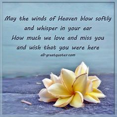 May The Winds Of Heaven Softly And Whisper In Your Ear Memory Dad Loving Missing Someone
