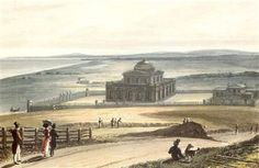The above aquatint engraving by William Daniell, published in 1823, shows Thomas Read Kemp's new home, The Temple, on Montpelier Road. This shows the house as it was first built, before various alterations were made. The house is still there today, although much changed, as the Brighton & Hove High School for Girls, and the tall flint stone boundary wall still surrounds it. Brighton Rock, Brighton And Hove, Seaside Shops, Flint Stone, Buffalo Shoes, Old School, High School, Boundary Walls, Help The Environment