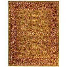 $305.99  Safavieh Handmade Golden Jaipur Green/ Rust Wool Rug (7'6 x 9'6) - Overstock™ Shopping - Great Deals on Safavieh 7x9 - 10x14 Rugs