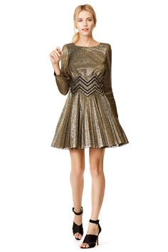Spin in Gold Dress by Blumarine