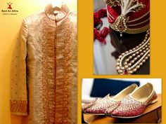 """#IndianWeddingFashion """"Keep it classy & flaunt this Cream & Antique Gold Brocade Sherwani with Intricate Finely Crafted Hand Embroidery"""" Take a glance at our all new collection of Sherwani designs especially handpicked to prep up your style quotient for special occasions and wedding ceremonies.. Try it ♡ Book it ♡ Flaunt it  #festive #bigfatindianwedding #grooms #mensfashion #traditional #trendy #royal #gold #rentanattire"""