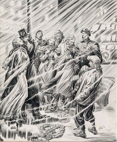 Happy holidays! Here's an original magazine illustration by the great Alex Raymond, source unknown, circa 1930s.