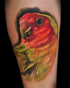 Lovely bird tattoo - Brandon Heffron @ Beloved Studios