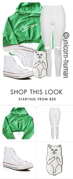"""Untitled #1489"" by unicorn-human ❤ liked on Polyvore featuring NIKE, Topshop and Converse"