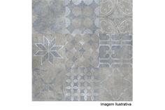 Porcelanato Lanzi 50x50cm Manhattan Decor Silver - Lanzi