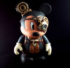 "Custom One of a Kind 9"" Steampunk Mickey Disney Vinylmation By Skeriosities"