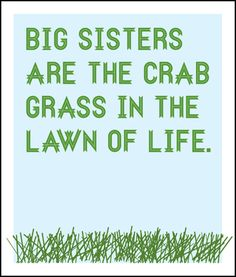 Sisters –  NOT REALLY!!!  Just thought it was funny :)