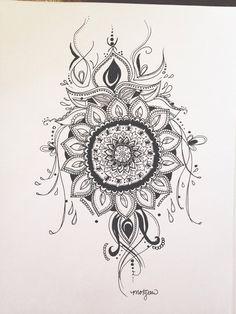 Mandala Print by MorgansCanvas on Etsy