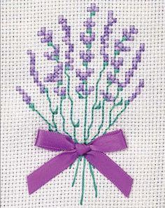 Levendula - Keresztszemes minta ~ Ramimami kuckója
