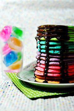 Como fazer panquecas coloridas