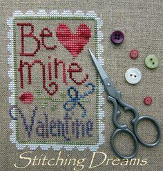 Lizzie*Kate via Stitching Dreams Cross Stitch Heart, Simple Cross Stitch, Modern Cross Stitch, Cross Stitch Designs, Cross Stitch Patterns, Lizzie Kate, My Funny Valentine, Valentines, Cross Stitching