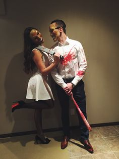 Easy DIY Halloween Costumes for Women to Make - The Purge Cute Couple Halloween Costumes, Pretty Halloween, Halloween Kostüm, Halloween Outfits, College Couple Costumes, Couple Costume Ideas, Halloween Makeup, Halloween Disfraces, Goals
