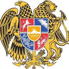 Free heraldic eagle, armenia armories vector graphic in adobe illustrator . Armenian Culture, Family Crest, My Heritage, Coat Of Arms, Vector Design, Clip Art, Etsy, Artwork, Prints