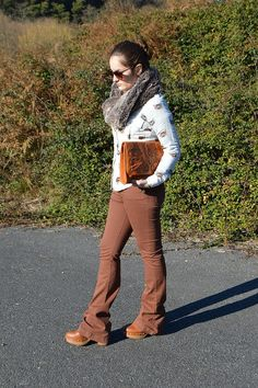 #luztieneunblog #look #looks #blog #outfit #winter #outumm #2017  #marrón #oficina #casual #diario #clutch #stradivarius