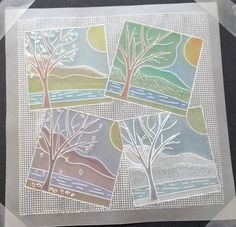 Starter kit Groovi card created by Julie Wheatman Vellum Crafts, Vellum Paper, Paper Art, Paper Crafts, Card Crafts, Clarity Card, Parchment Cards, Card Tags, Men's Cards