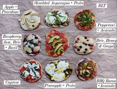 I'm always looking for new ideas for our pita pizzas.  I think I know what we're doing for dinner tomorrow.