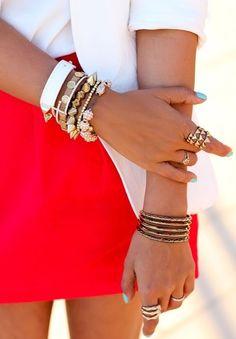 Love the Rings & Bracelets <3