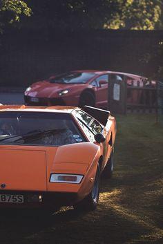 "artoftheautomobile: "" Lamborghini Countach & Aventador (Credit: Luke) """