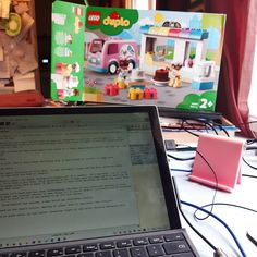 This is where I'm writing this week. Chicken Story (tm) with one hand and creating a duplo bakery with the other. I've decided I prefer duplo to lego, it's so much less fiddly. #writer #writerslife #writerlife #writersofig #writerscommunity #author #authors #writers #authorlife #life #WritingCommunity #authorsofinstagram #writersofinstagram