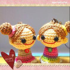 niñas llaveros amigurumi pagina japonesa