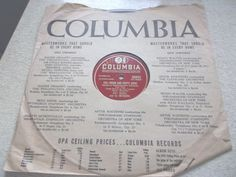 Ray Noble Full Moon Empty Arms 78 RPM Columbia Record It Might As Well Be Spring #EasyListening