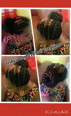Tree braided cornrows Tree Braids, Big Braids, Girls Braids, Twist Braids, Ghana Braids, Black Braids, Twists, Ethnic Hairstyles, Weave Hairstyles