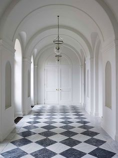 Black White Diamond Marble | Antique Checkerboard Marble Floor | Black White Limestone | Honed Checkerboard Floor | Ben Pentreath Ltd