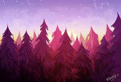 Gravity Falls landscape Elentori