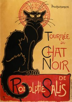 Théophile Steinlen, poster Le Chat noir, 1896 I've always loved this poster