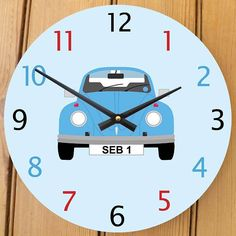 personalised beetle clock by cute-clocks | notonthehighstreet.com