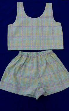 Checked handmade two piece summer festival co ord size 6-8 in Clothes, Shoes & Accessories, Women's Clothing, Other Women's Clothing | eBay