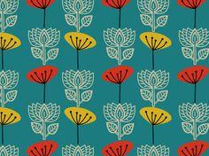 """R e t r o P a p e r"" by hana* 1960, 1970, My Lotus Lovely..., NightingaleSt, black, blue, cloth, design, fabric, flower"