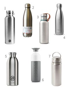 my basics Isolierflasche Edelstahl 0,35 l Flasche Thermoskanne Thermosflasche