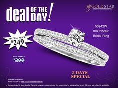 Save up to 17% on this Beautiful 10K White Gold 2/5 ct Diamond Bridal Ring by Ashnis Collection. Hurry! This offer is for limited time only.