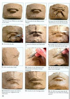Sculpting facial features