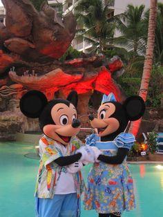 #DisneyAulani with Mickey and Minnie.