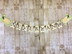 Welcome to Mandi N Mari Designs! Wow your guest with this spectacular Peter Pan designed banner. perfect for a baby shower or birtgday. Handcrafted with premium acid free card stock. Map measures to 7 inches tall by 10 inches wide and each pennant measure 5.5 inches tall by 3.5