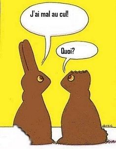 Happy Easter 2 - Easter pictures Easter humor Easter jokes and Easter cartoons Funny Easter Jokes, Easter Cartoons, Funny Bunnies, Funny Easter Bunny, Easter Peeps, Chocolate Easter Bunny, Chocolate Rabbit, This Is A Book, Humor Grafico