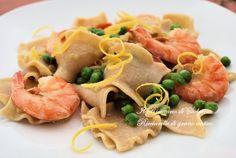 Ricciarelle di grano antico alle code di gambero pasta with shrimps