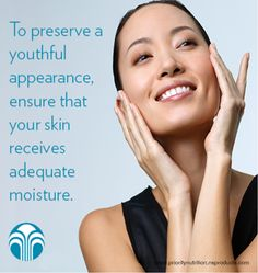 Here's your Nu Skin tip of the week! To Preserve a Youthful appearnce, Ensure that your skin receives  adequate moisture