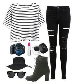 """""""Date with Lee Hongbin"""" by lucky-unicorn ❤ liked on Polyvore featuring Miss Selfridge, Timberland, Topshop, Givenchy, Eos, NARS Cosmetics, Smoke & Mirrors, women's clothing, women and female"""