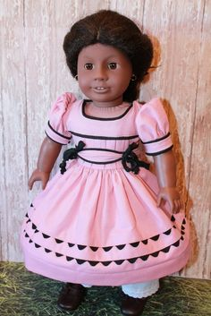 American Girl Addy,  Cape Island Dress by breezywindy via Etsy, $38.00
