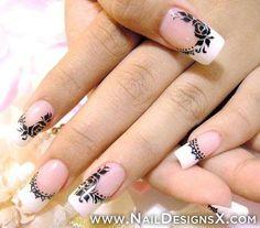 black & white nail designs - Nail Designs & Nail Art