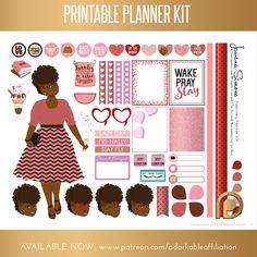 February 2017 Printable Calendar Planner Stickers Patreon Exclusive Tawana Simone