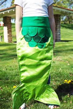 Fairy Tale Mermaid Costume Tail Kids Dress Up by arainydayplay