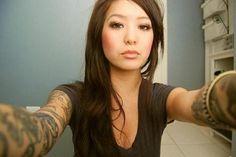 I really like girls with tats... HAHA. Still debating if I will ever get full sleeves.