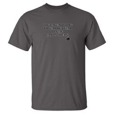 Mashed Clothing - You Have Nothing To Fear But Fear Itself (And Spiders) - Short Sleeve Adult T-Shirt (Charcoal Large)
