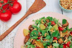 Frisse salade met kipstukjes van De zus van Pauline
