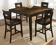 Cyprus II Dining Room Collection - Value City Furniture-Counter-Height Table $499.99 #BuyOnlineVCF #PinItToWinIt
