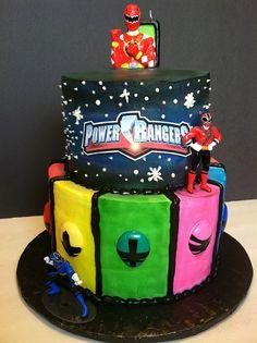 Power Rangers Cake by Gaspar's Cakes, via Flickr